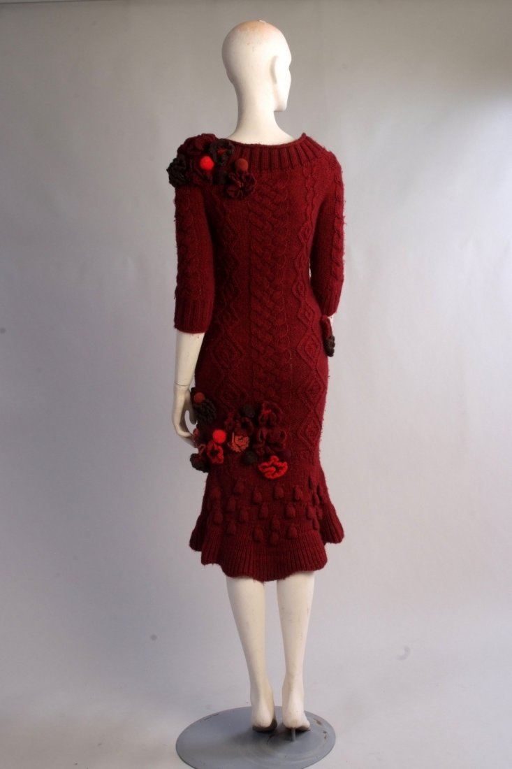 A Rare 'Alexander McQueen' Cable knitted dress. A truly - 7