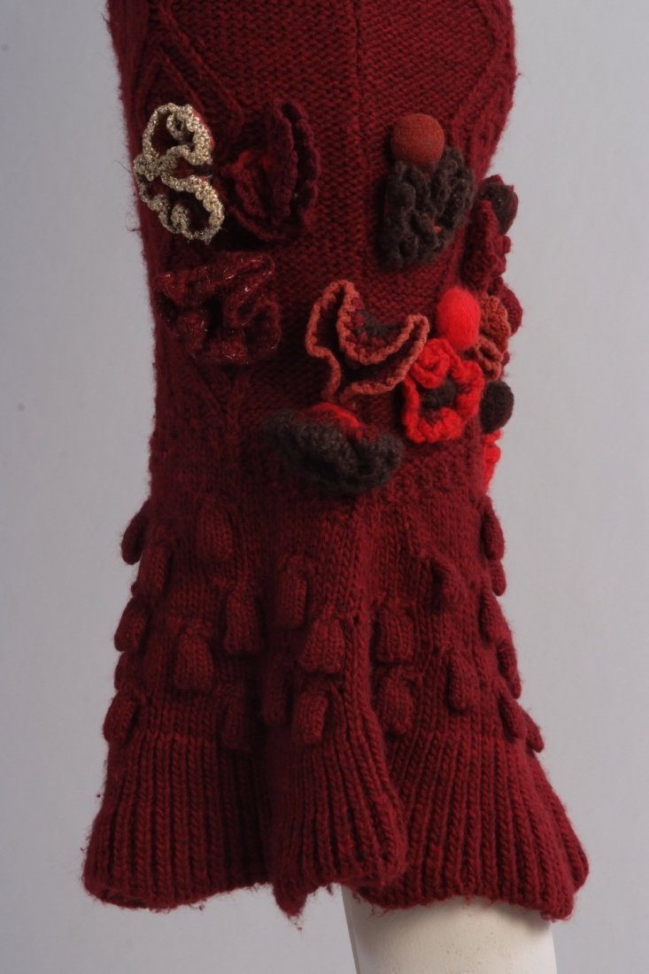 A Rare 'Alexander McQueen' Cable knitted dress. A truly - 8