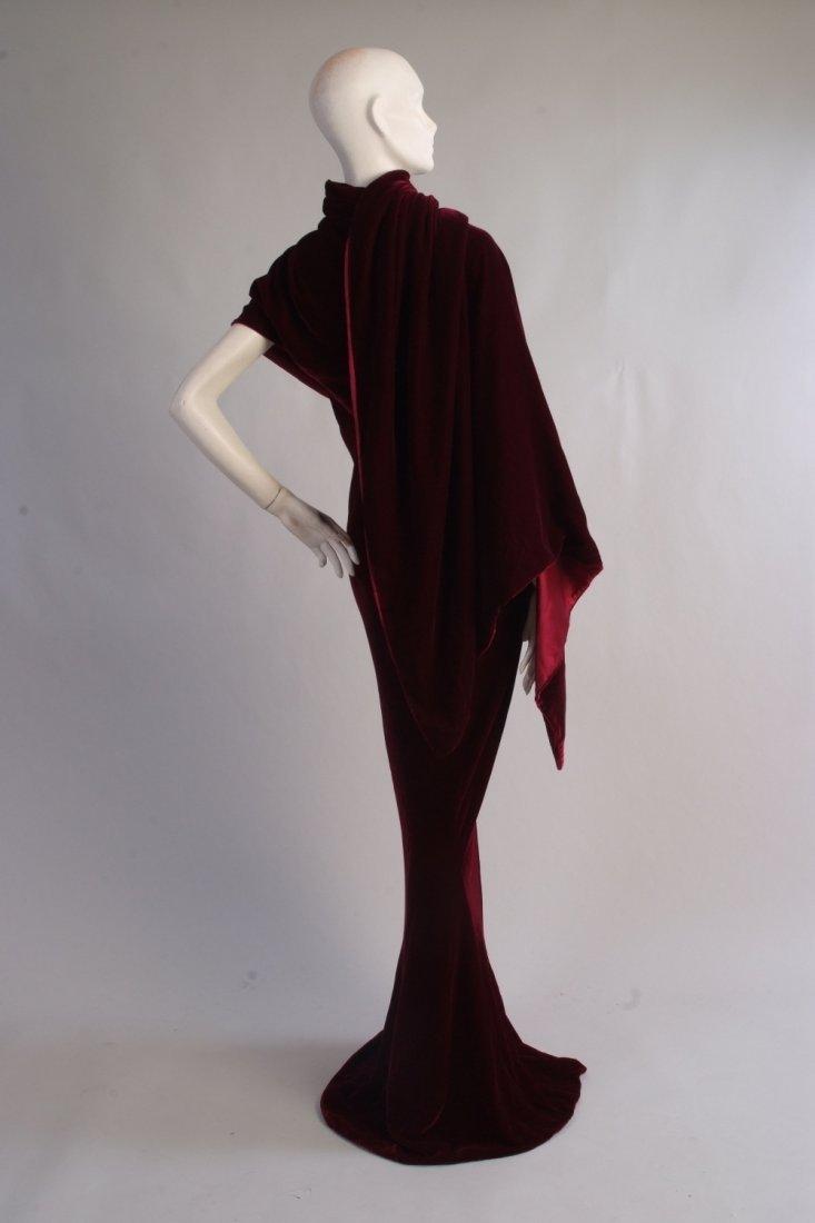 A 2009 'Alexander McQueen' Velvet Ballgown.  This truly
