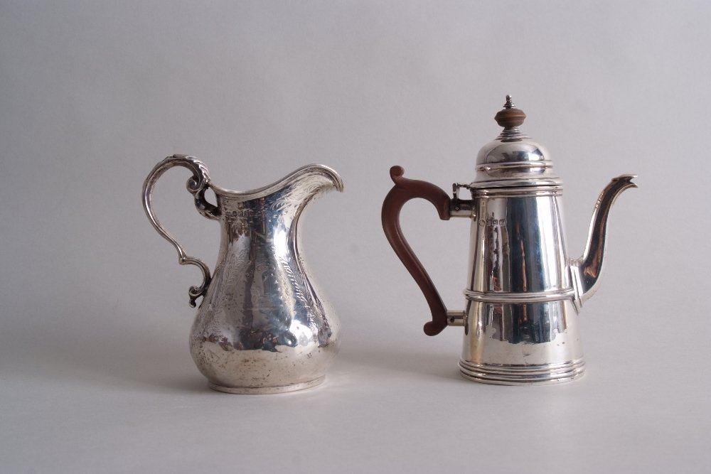 A George V miniature coffee pot, by Adie Brothers Ltd,