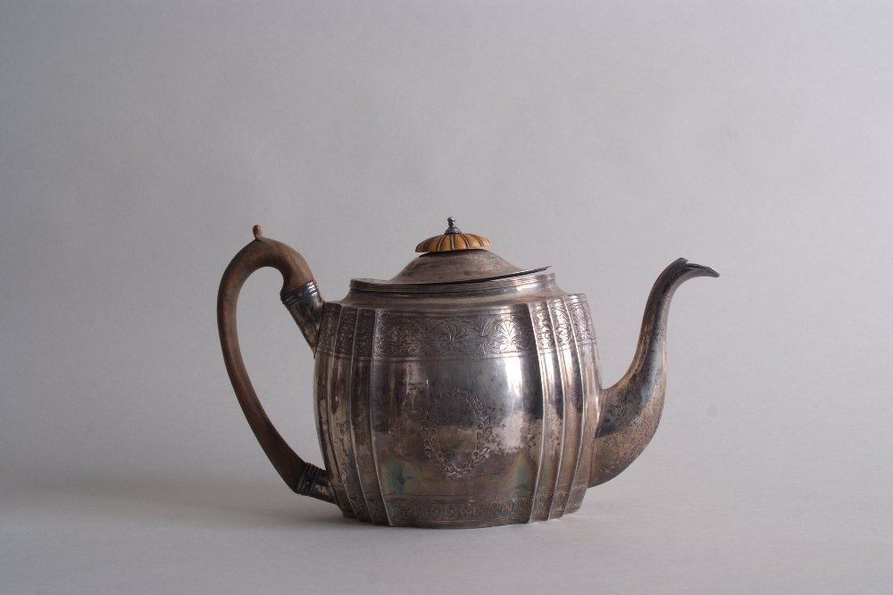 A George III silver teapot, by John James Whiting,