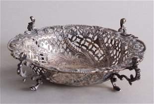 A Victorian silver bon bon dish, by Charles Stuart