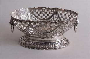 An Art Deco silver bon bon dish, by William Hutton &