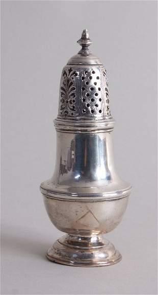 A George II silver salt castor, by Samuel Wood, London