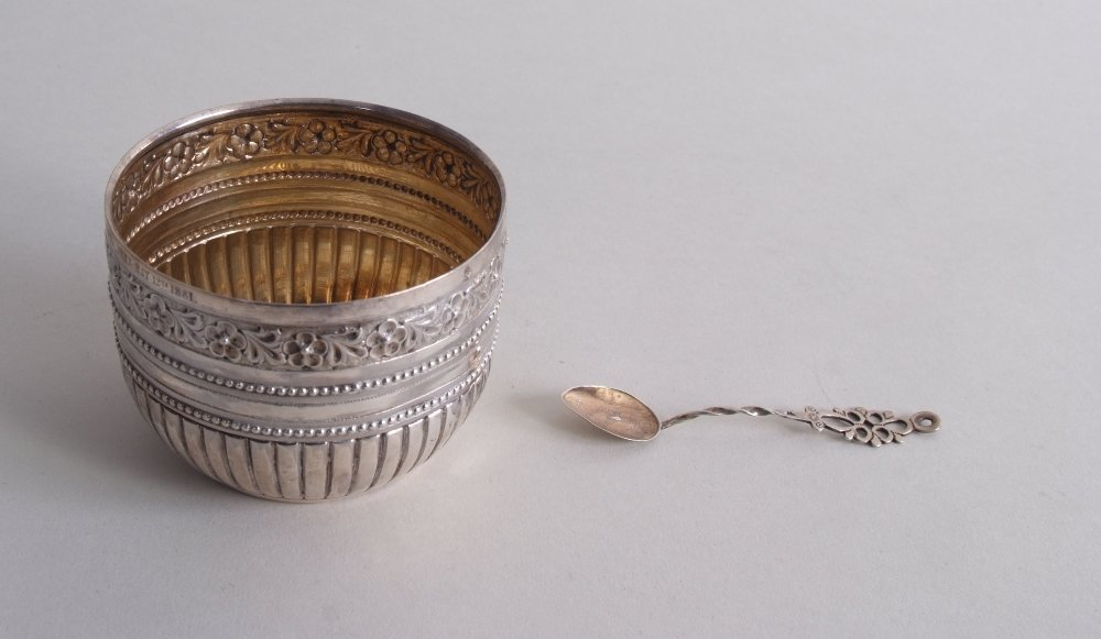 A Victorian silver sugar bowl, by Charles Stuart