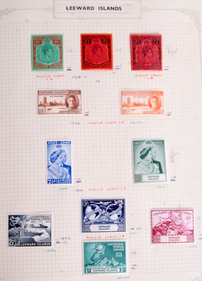 British Commonwealth stamps, the collection is in 10 - 10