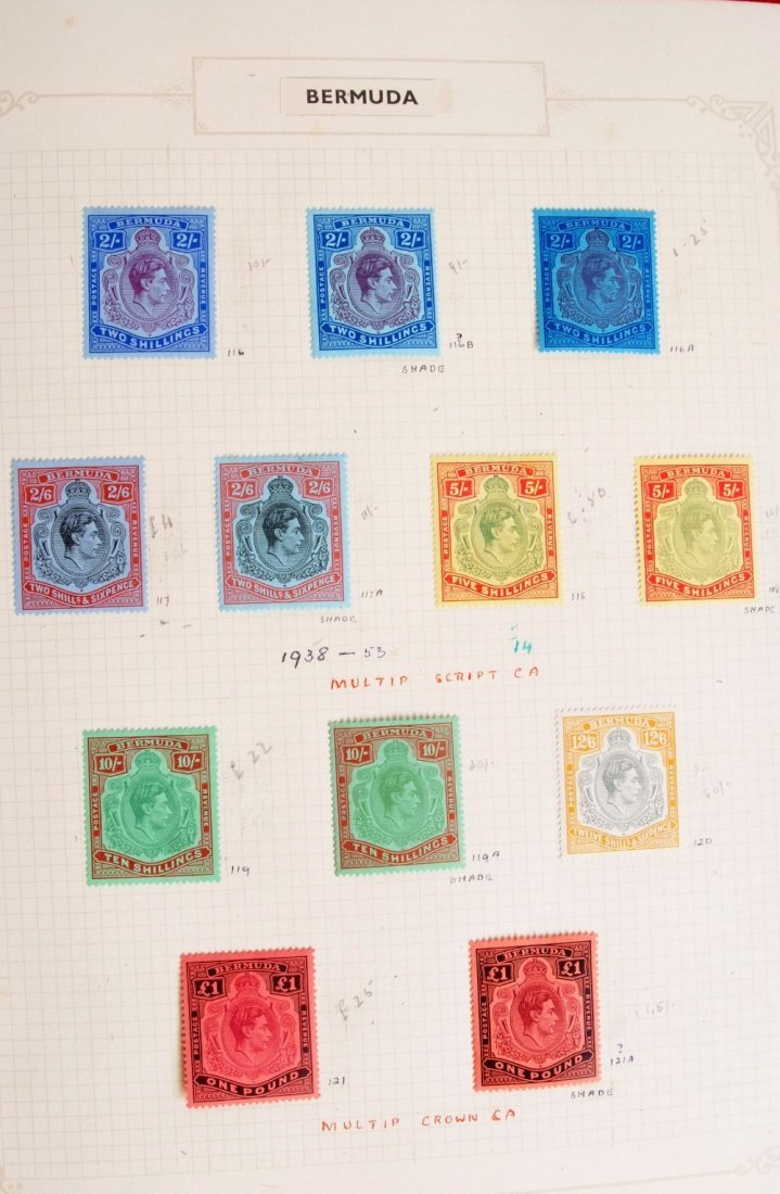 British Commonwealth stamps, the collection is in 10