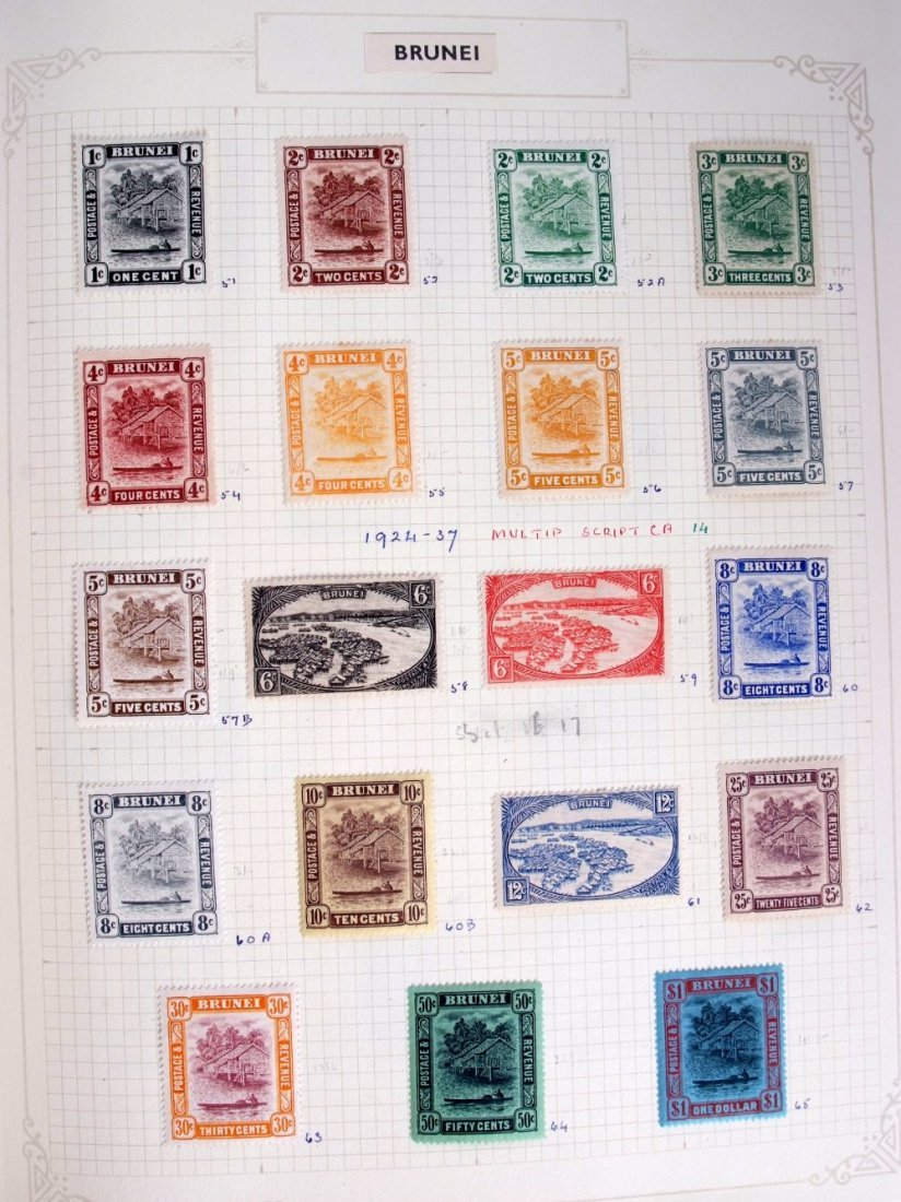 British Commonwealth stamps, the collection is in 10 - 2