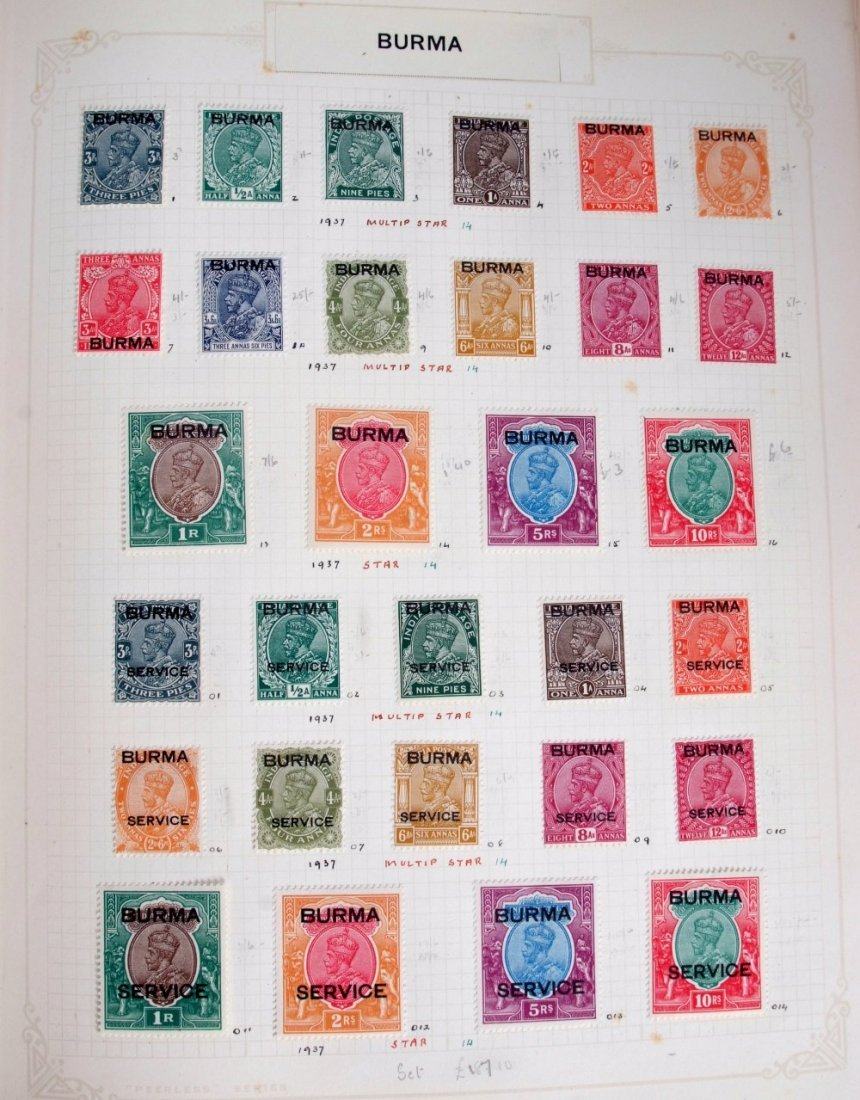 British Commonwealth stamps, the collection is in 10 - 3