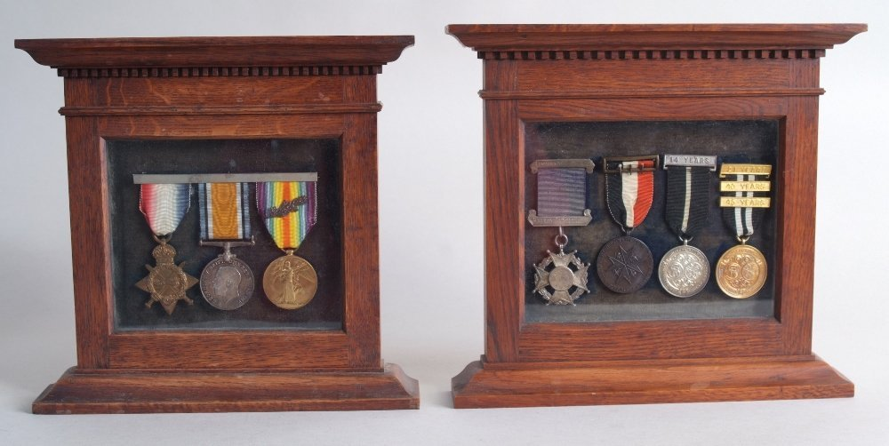 A group of three WWI George V medals, 1914-15 star, the