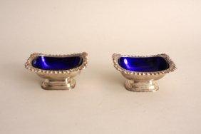 A pair of Art Deco silver salts, by Ellis & Co., London
