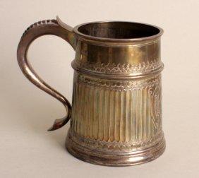 A Victorian Brittania Standard silver mug, by Charles