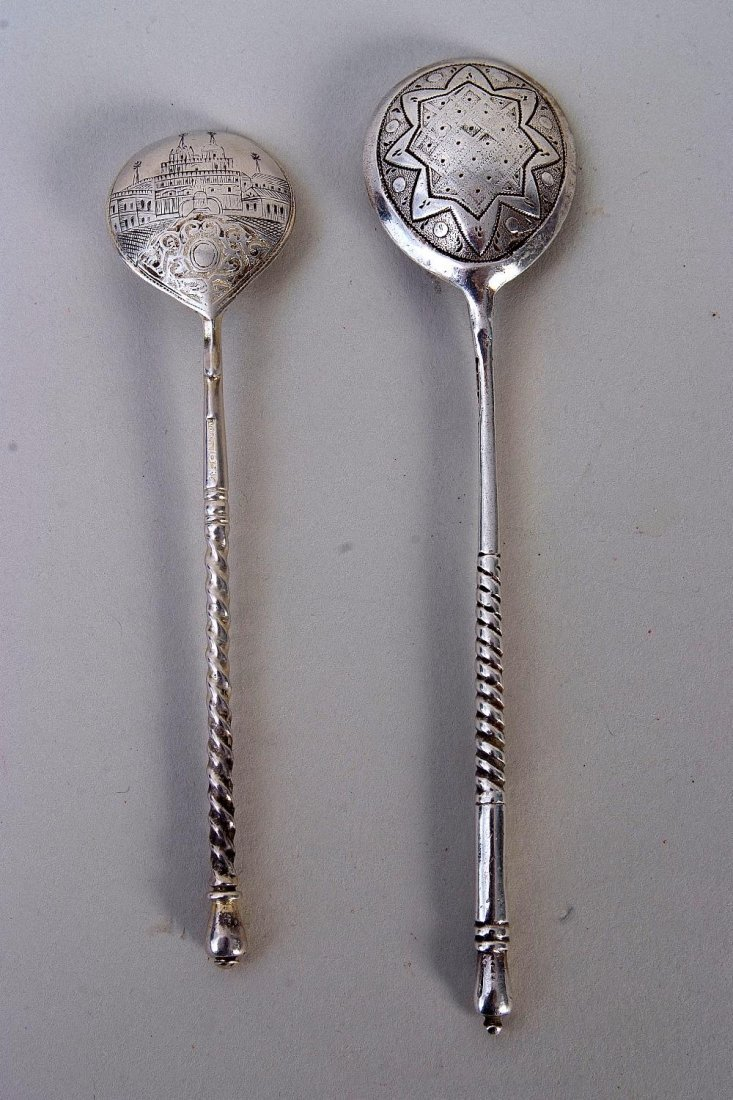 A late 19th century Russian silver and niello work