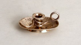 An unusual early Victorian silver chamberstick, by