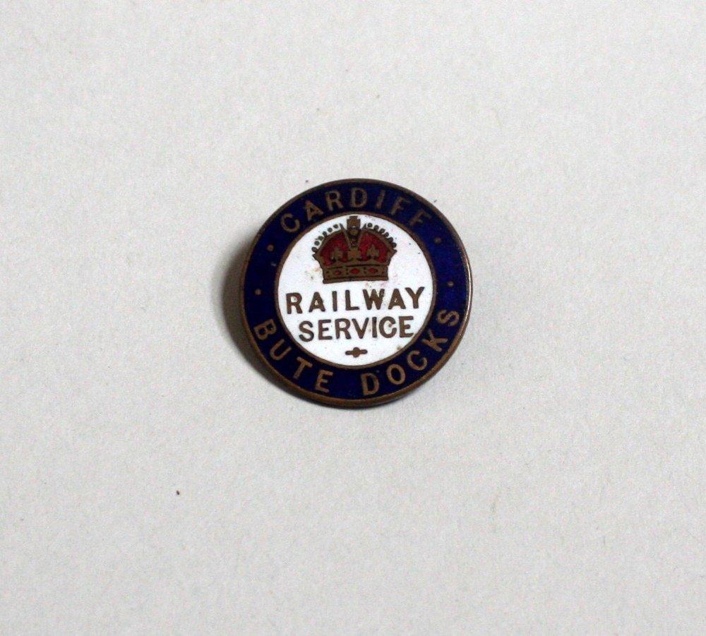Cardiff Bute Docks Railway WWI Railway service enamel