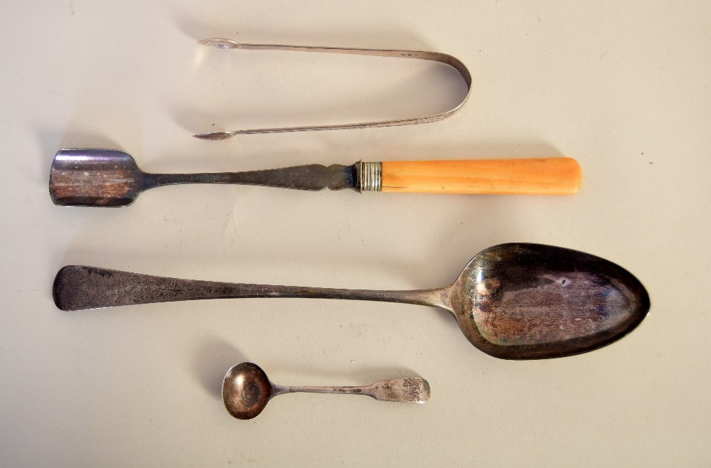 A George III silver dog nose pattern serving spoon,