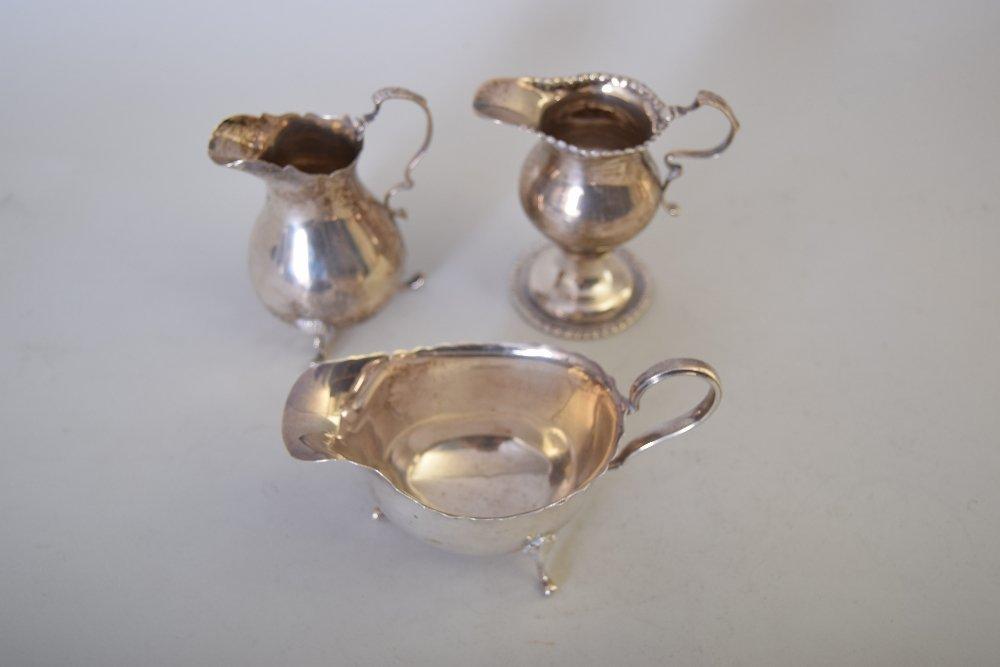 A late Victorian silver cream jug, by C.S. Harris &