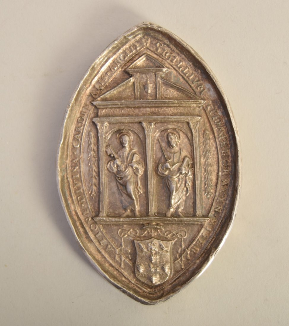 A Victorian silver religious plaque, by SKS, London