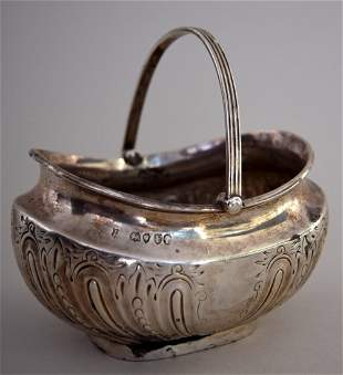 A Victorian silver plated bonbon dish with engraved