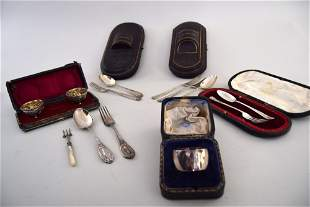 A quantity of silver and silver plated items including