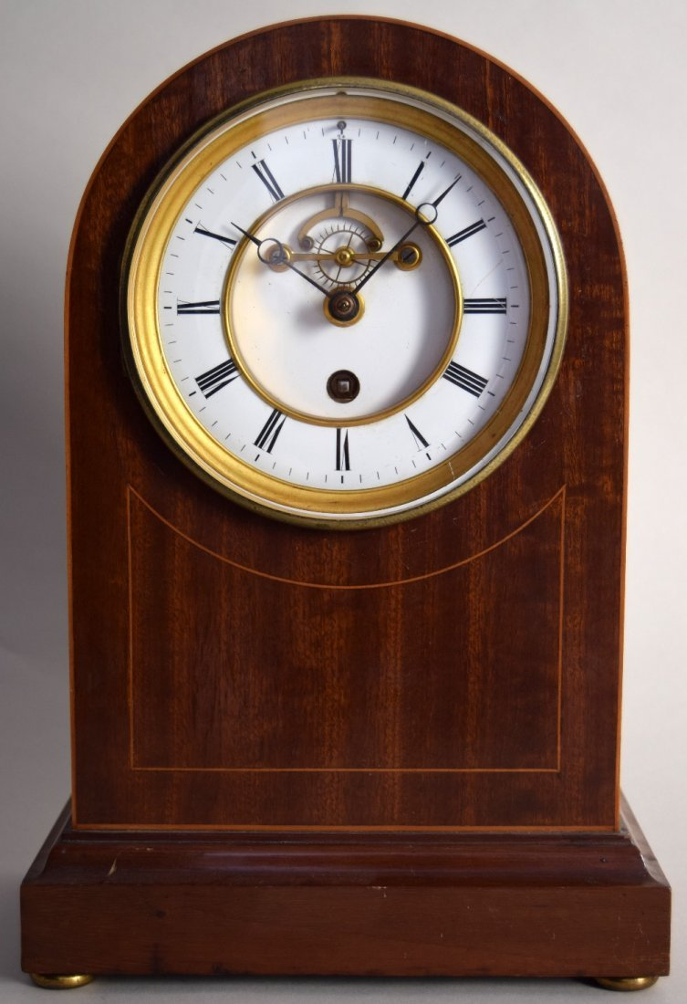 A Francois Frere mantel clock, late 19th century, in an