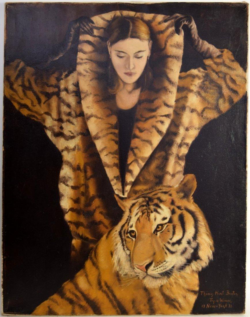 Thomas Hart Benton (American 1889-1975) Tiger Woman,