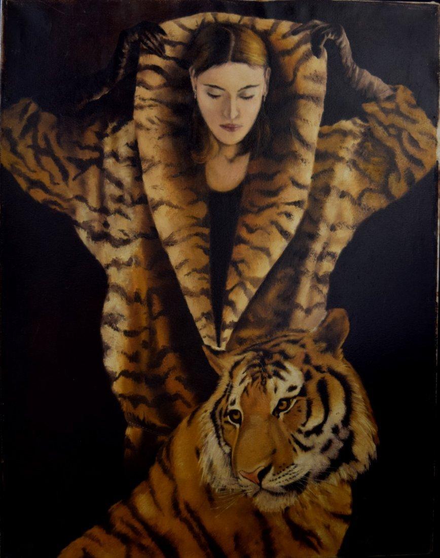Thomas Hart Benton (American 1889-1975) Tiger Woman, - 2