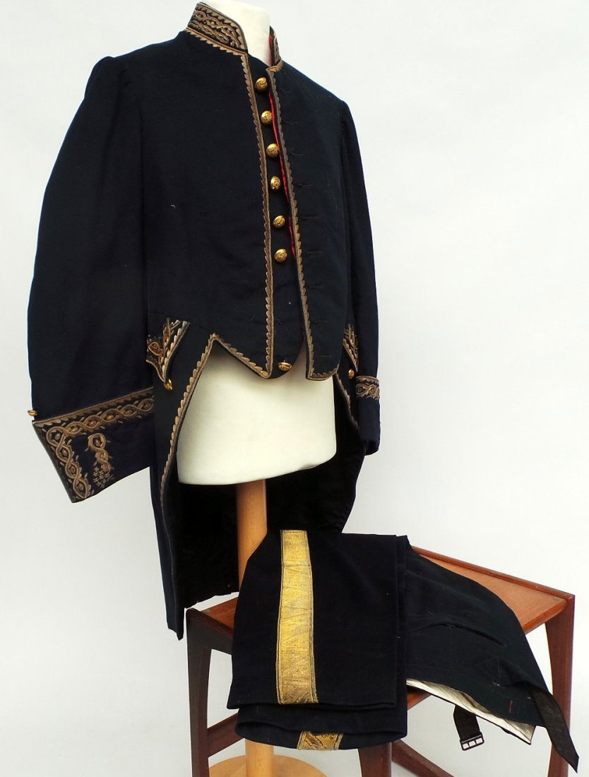 A 19th Century military suit heavily embellished with