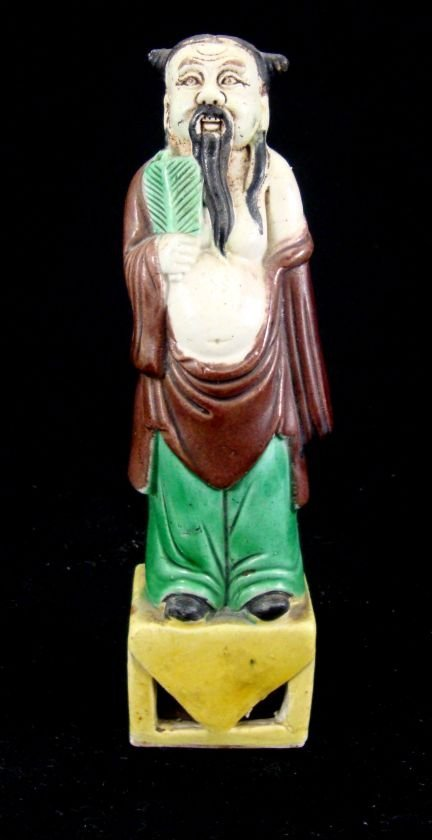 Oriental Ceramic Polychrome Figure