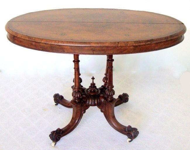 Inlaid English Hall Table