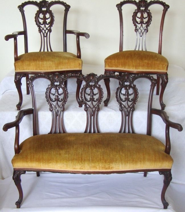 19th Century Chippendale Style Parlor Set