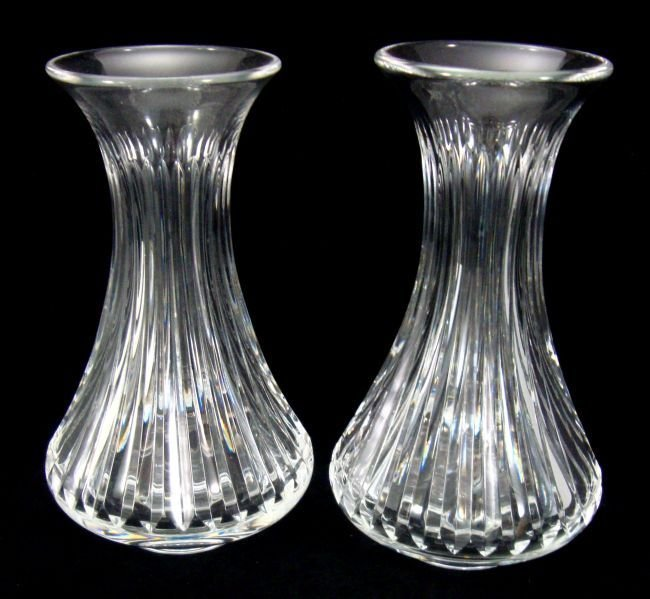 French Crystal St. Louis Vases  PAIR