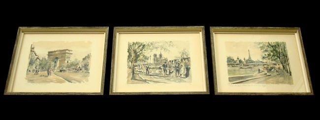 Franz HERBELOT (b. 1900) Parisian Prints