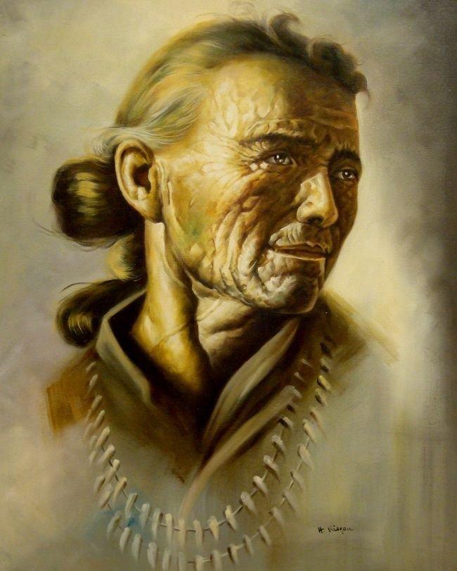 Western Artist, H. Kisgen Oil