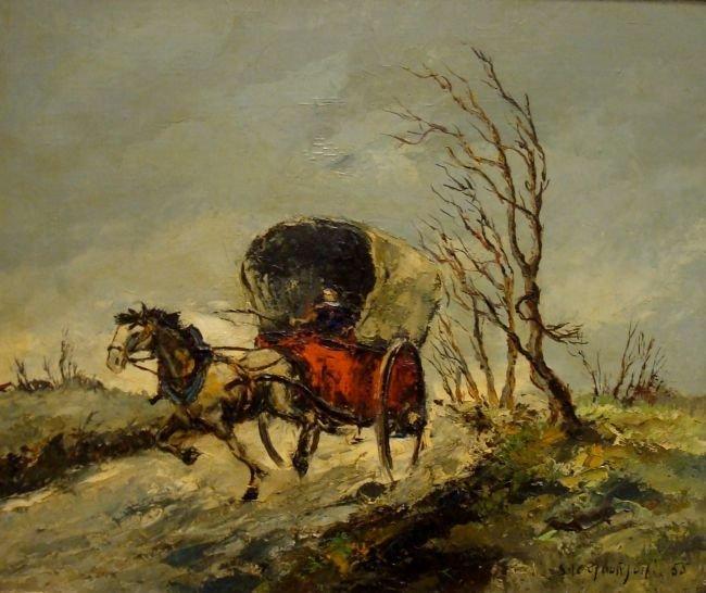 Stephane H. C. Gourjon, oil on canvas