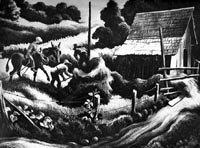 Thomas Hart Benton Lithograph Haystack 1938