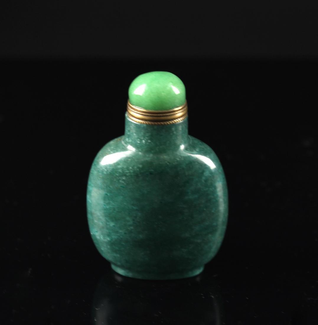 Green Jade Snuff Bottle Qing Dynasty