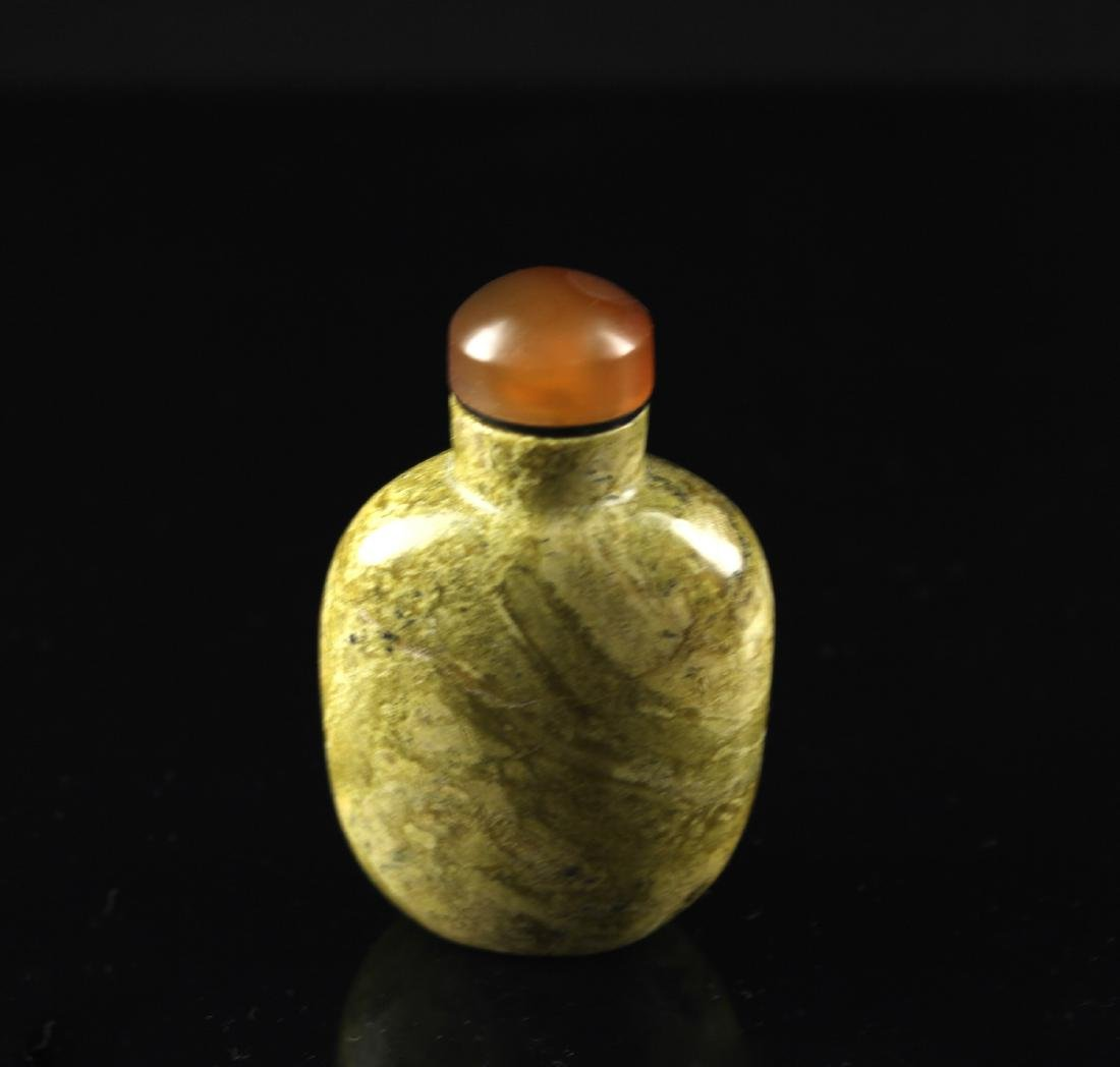 Quartz Green Coloured Snuff Bottle Qing Dynasty