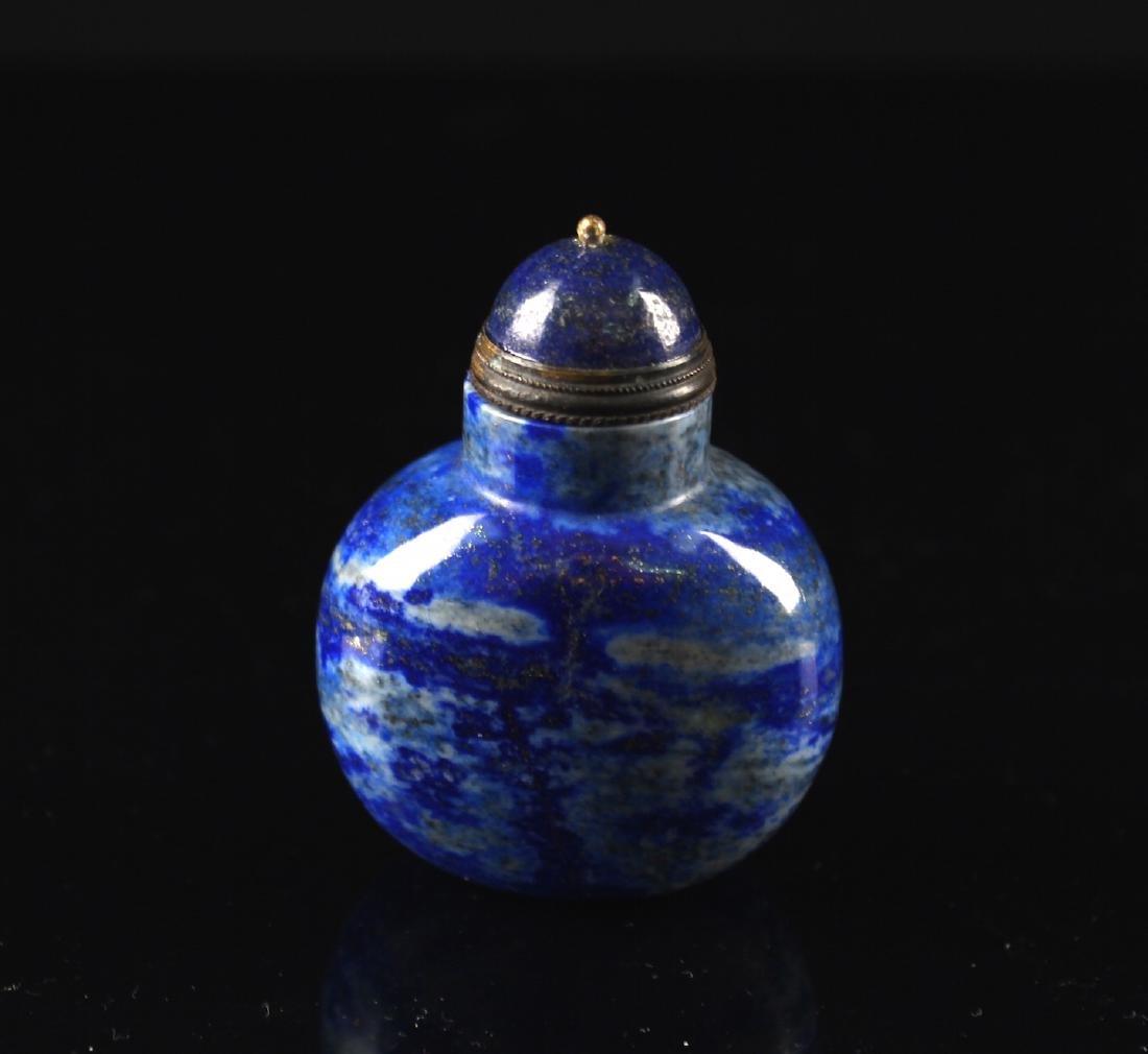 Lapis Lazuli Snuff Bottle Qing Dynasty