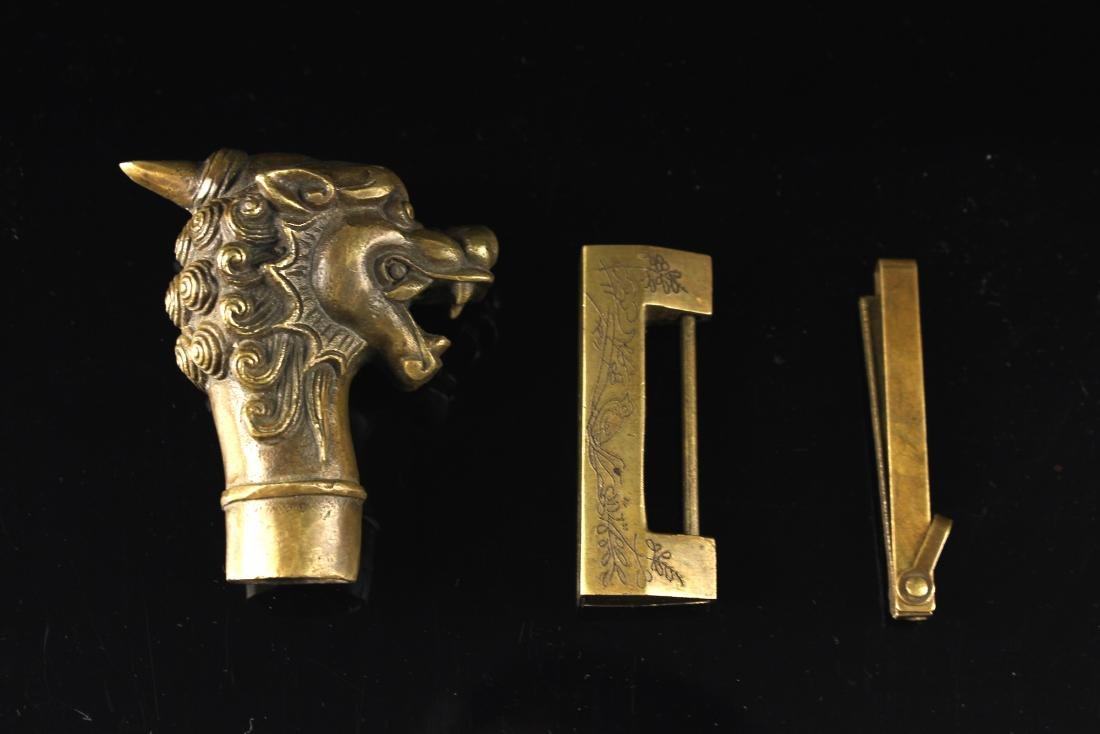 Bronze Lock&Cane Handle Dragon Shape Republican Period