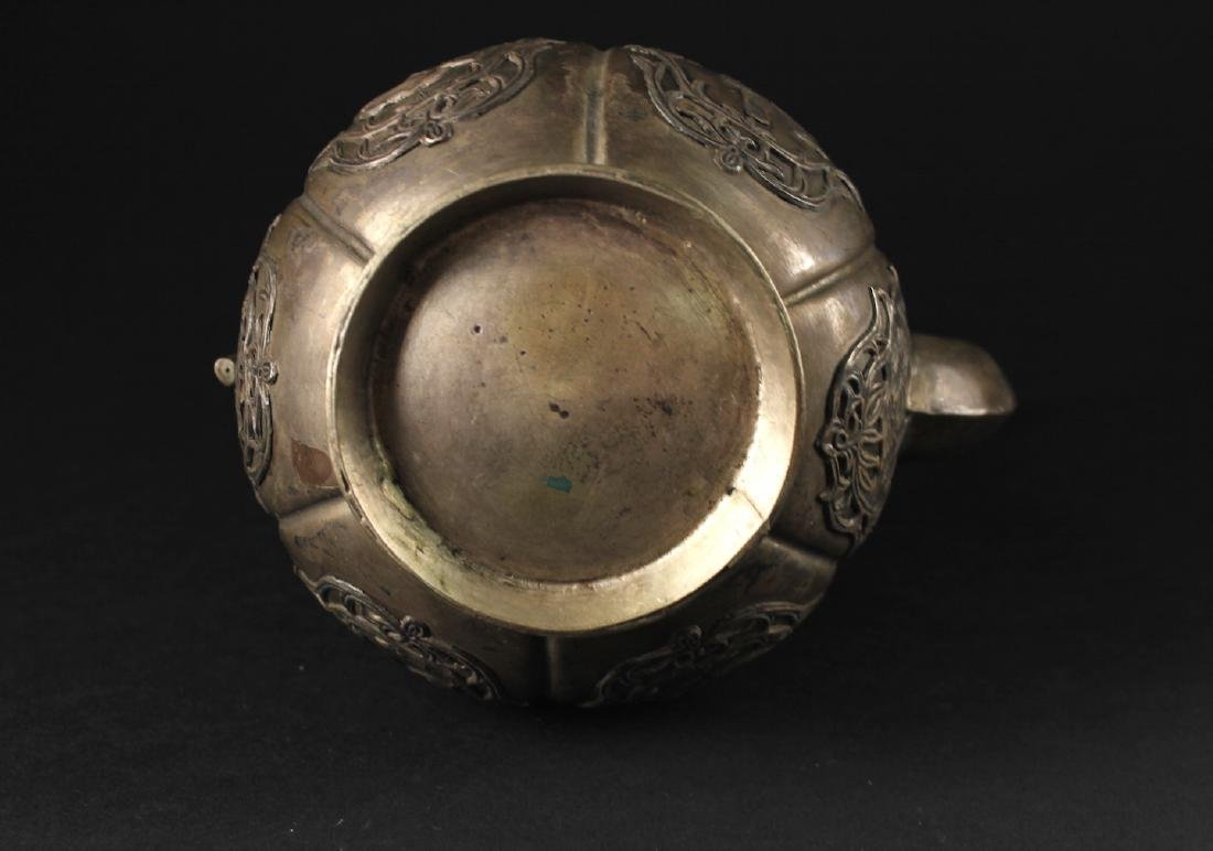 Bronze Carved with Chinese Story Wine Pot Qing Dynasty - 3