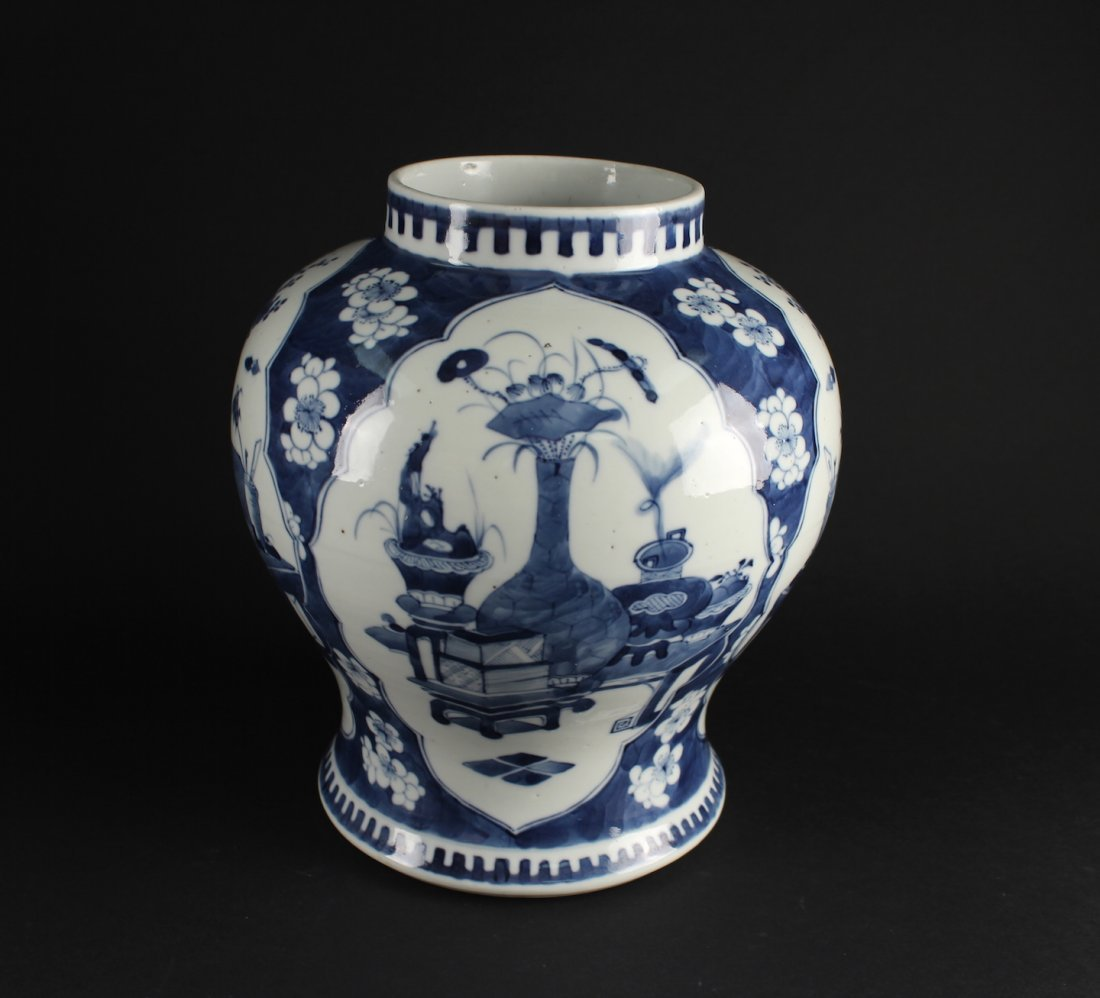 Blue and White Jar the Late of Qing Dynasty Period