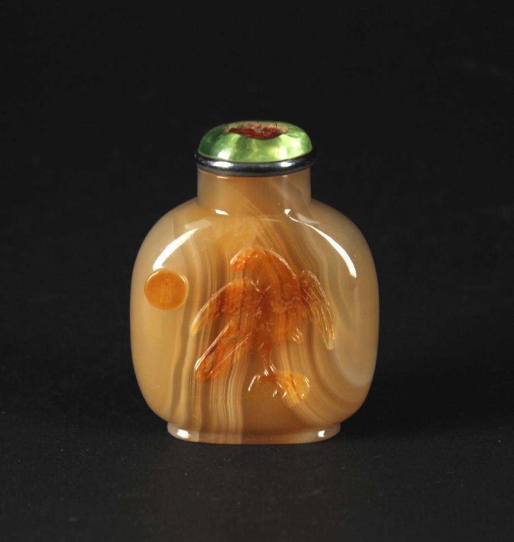 Agate Snuff Bottle Qing Dynasty