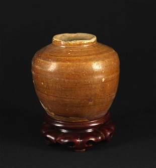 Yellow Glaze Small Jar Ming Dynasty Period
