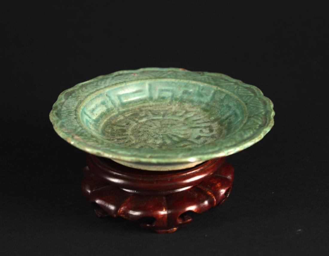 Long-quan Kiln Celadon Small Plate Ming Dynasty Period