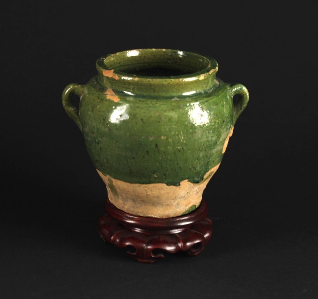 Green Glaze Small Jar Tang Dynasty Period