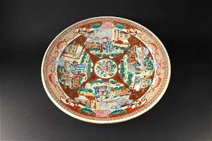Wide Color Porcelain Dish Middle of Qing Dynasty Period