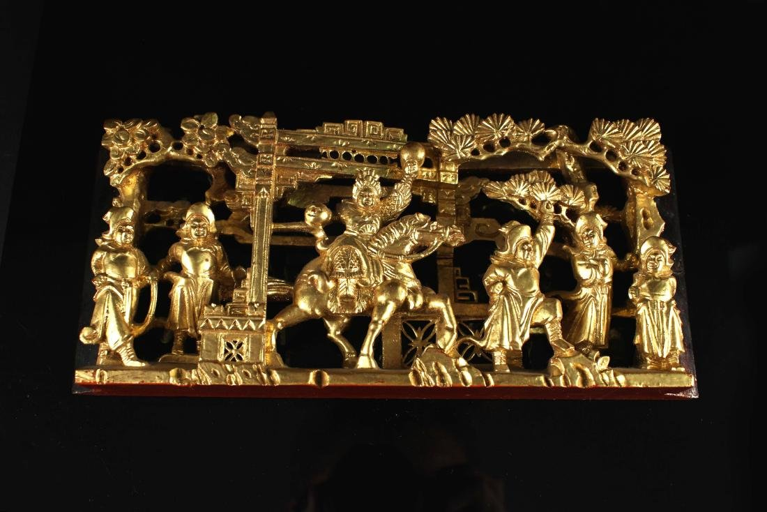 Chaoshan Woodcarving Gilt Story Decorate Qing Dynasty