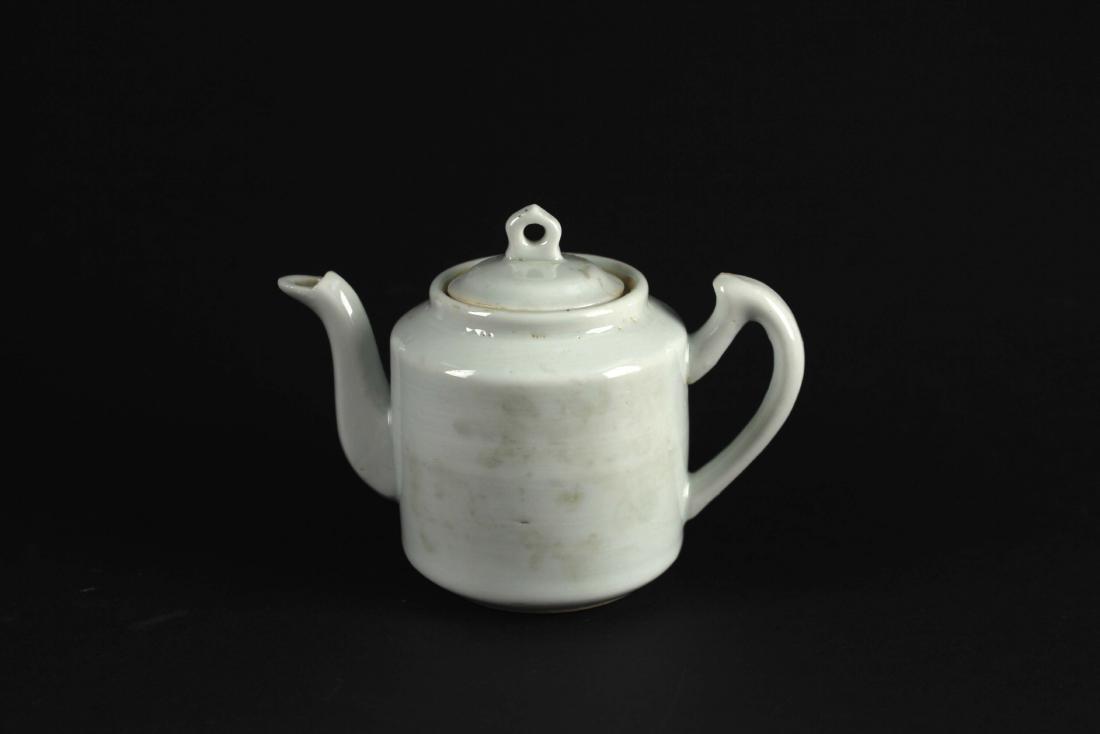 Dehua Kiln White Glaze Tea Pot Qing Dynasty Period
