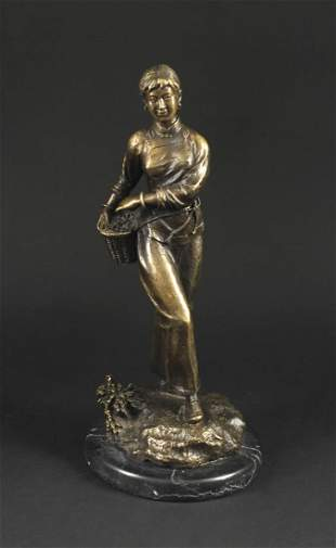 Bronze  Lady Statue the Great Proletarian Cultural